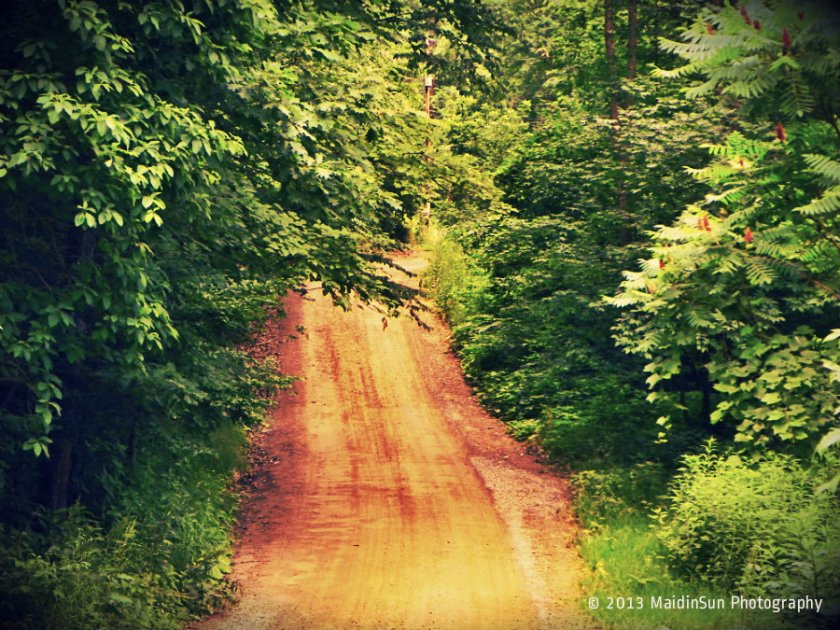 On a dirt road